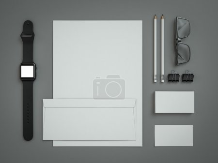 Branding mockup on grey background
