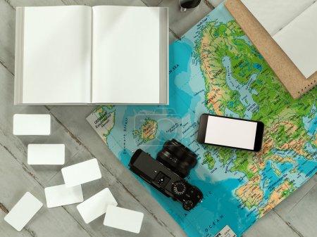 Photo pour Voyager maquette modèle d'entreprise. Haute résolution . - image libre de droit