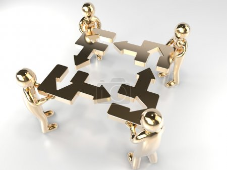 Puzzle. Teamwork.