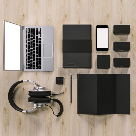 Mockup business template. High resolution.
