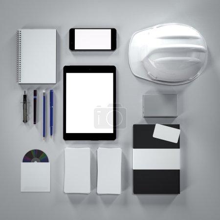 Photo pour Modèle d'entreprise de maquette. Documentation pour les entreprises. Haute résolution. rendu 3D - image libre de droit