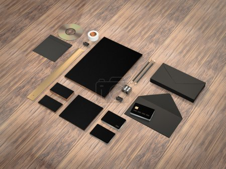 Mockup business template.  Premium