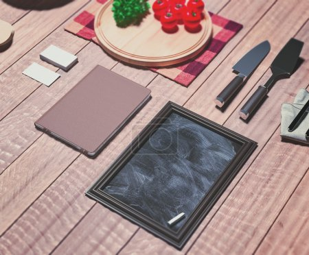 Photo pour Modèle maquette avec ustensile de cuisine. Haute résolution . - image libre de droit