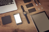 Template business for branding identity. Smart watch