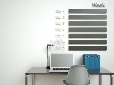 Photo for Wall calendar. Schedule memo management organizer concept. - Royalty Free Image