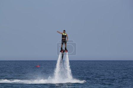 Unidentified Turkish man flyboarding
