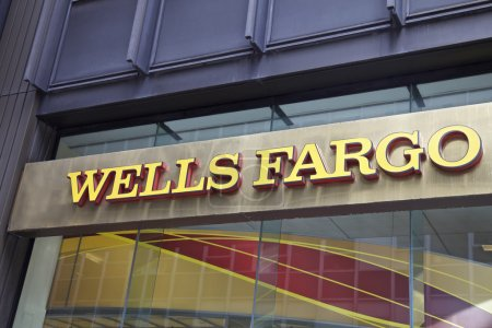 Wells Fargo Bank in Manhattan, NEW YORK - JUNE 06:...