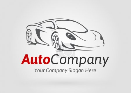 Concept design of a super sports vehicle car auto company logo.