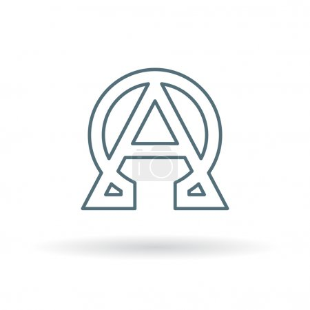 Abstract alpha and omega icon