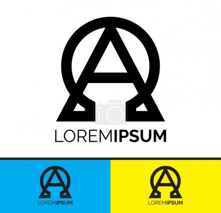 Conceptual Symbolic Alpha and Omega logo icon design