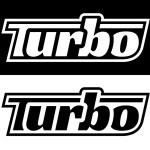 Постер, плакат: Performance vehicle turbo badge sticker