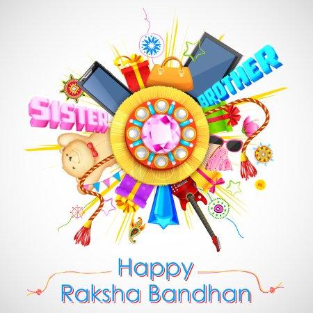 Decorative rakhi for Raksha Bandhan sale promotion banner