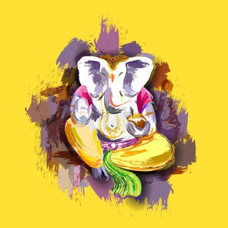 Lord Ganesha in paint style