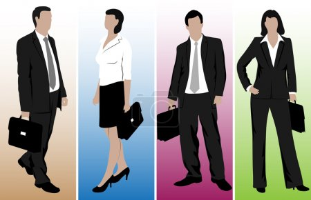 Drawings of business people