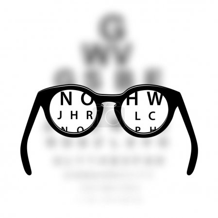 Illustration for Optometry medical background - Royalty Free Image