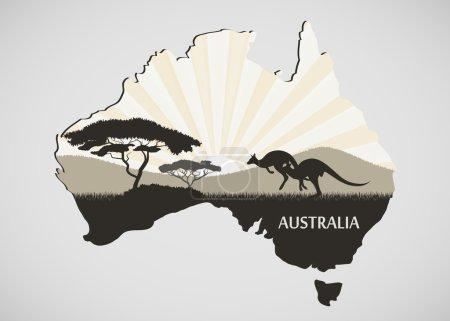 Illustration pour Continent australien - image libre de droit