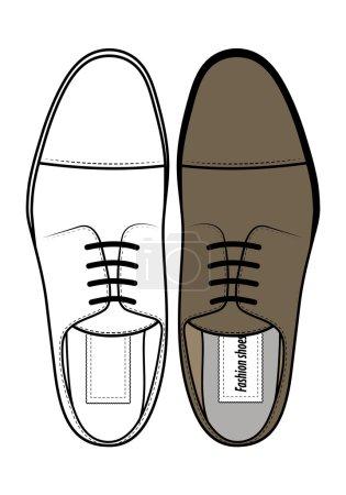 Men's classic shoes top view