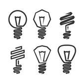 Ikona žárovky abstraktní