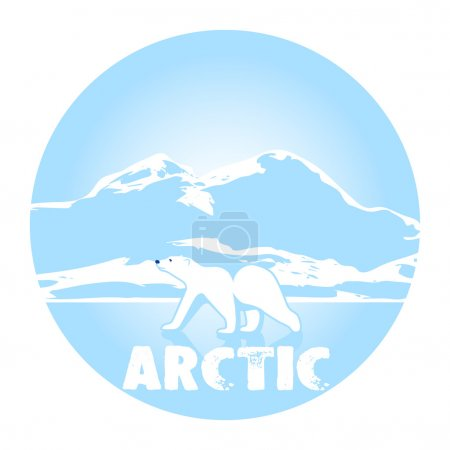 polar bear against ices a symbol of the Arctic