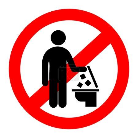 Illustration pour Ne jetez pas de déchets dans les toilettes - image libre de droit