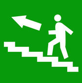 Fire exit Vector illustration