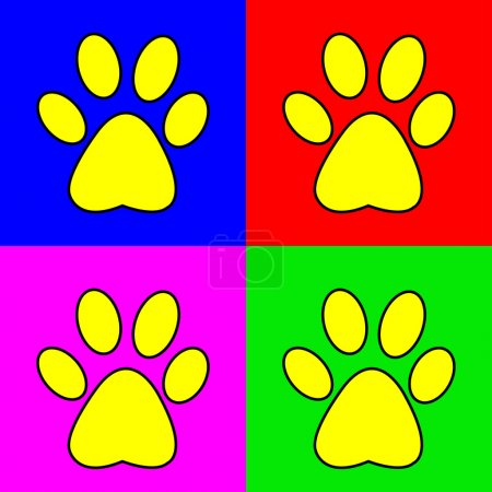 Set of vector of pug marks signs