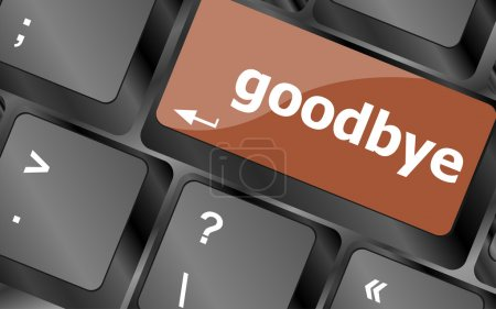 Photo pour Au revoir mot sur clé, bouton d'ordinateur portable clavier - image libre de droit
