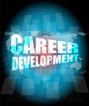Photo pour Concept d'entreprise : mots de développement de carrière sur écran digital - image libre de droit