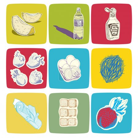 Hand drawn vectorial food icons