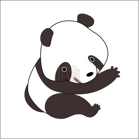 Illustration pour Illustration vectorielle d'un petit ours panda . - image libre de droit