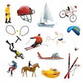 Extreme sport icons set