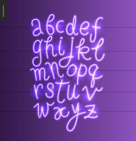 Neon alphabet 1