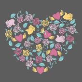 Valentine heart shaped decoration