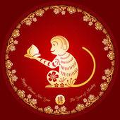 Chinese New Year Golden Monkey Background