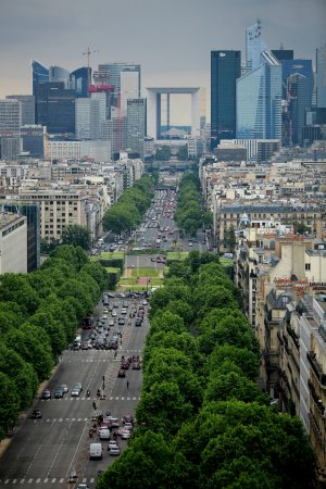 View of Le Defence in Paris.