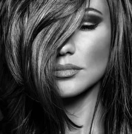 Luxury supermodel portrait