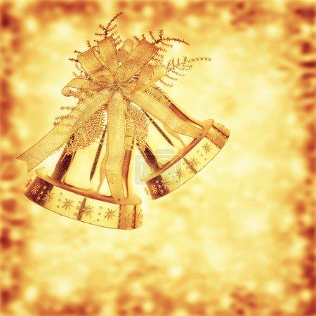 Cascabeles dorados de Navidad