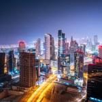 Beautiful night cityscape of Dubai, United Arab Em...