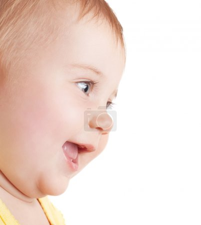 Portrait of happy baby