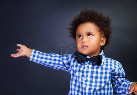Cute little boy portrait