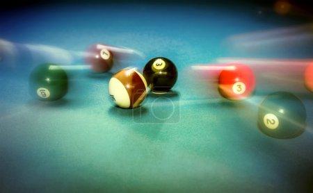 Billiard table vintage background