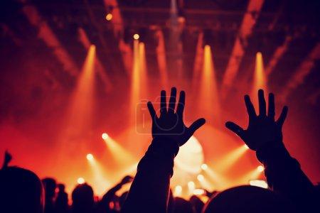 Enjoying rock concert