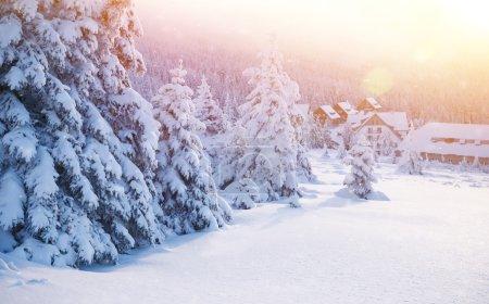 Beautiful winter resort