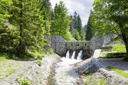 The Dam on a stream in Zakopane