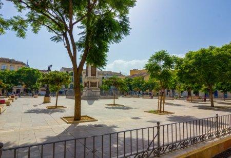 Travel Plaza de la Merced in the city of Malaga, Spain