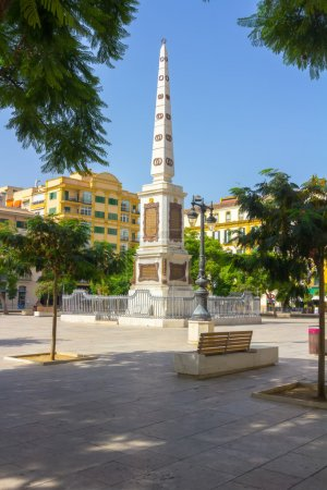 Photo pour Voyage Plaza de la Merced, dans la ville de Malaga, Espagne - image libre de droit