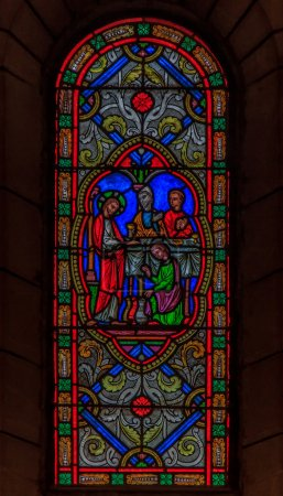 Stained Glass in Saint Nicholas Cathedral Monaco Ville