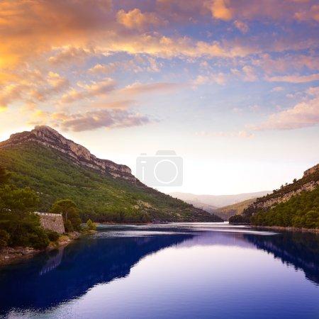 Ulldecona reservoir dam in Castellon Spain