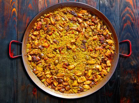 Paella from Spain rice Mediterranean recipe