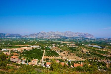Segaria mountains from Benidoleig in Alicante